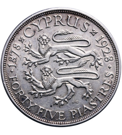 Cyprus 45 Piastres 1928
