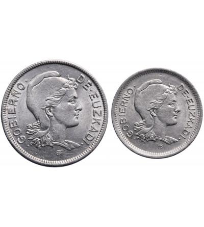 Spain - Euzkadi 1 & 2 Pesetas 1937