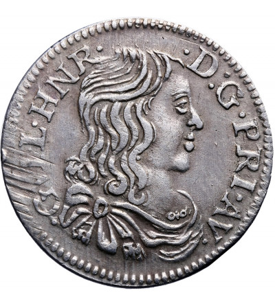 Francja 5 Sols (1/12 Ecu) 1661, Orange (Vaucluse)