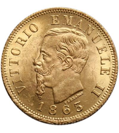 Włochy 10 Lire 1863 T BN