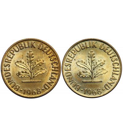 Germany Federal Republic 10 Pfennig 1968 D - 2 pcs.