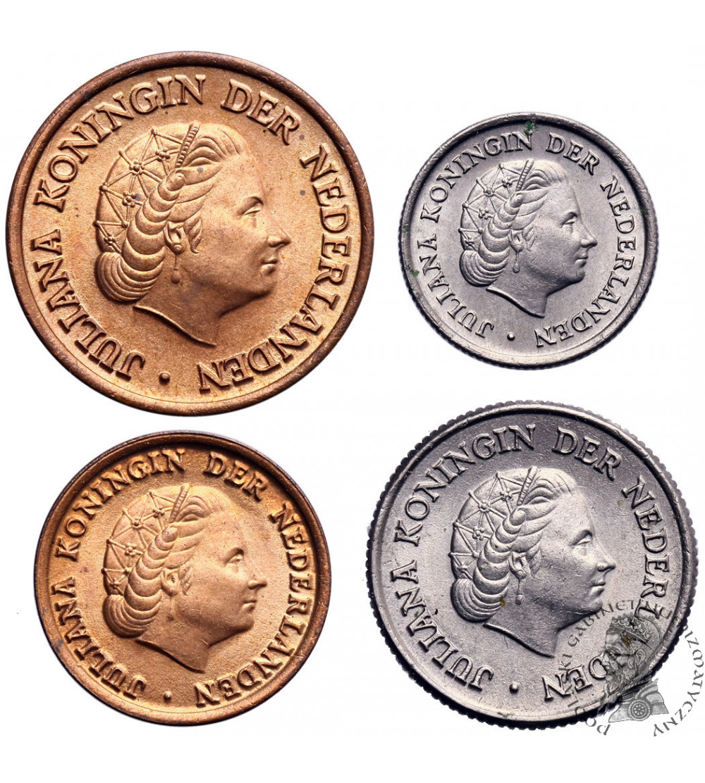 Holandia 1,5,10,25 centów 1950
