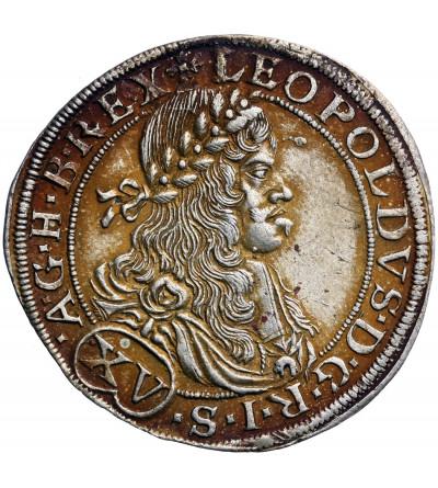 Habsburgowie (Austaria) 15 krajcarów 1664 CA, Wiedeń, Leopold I