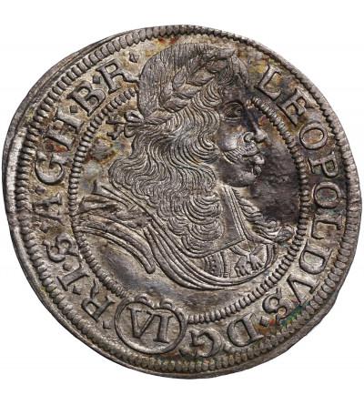 Habsburgowie (Śląsk) 6 krajcarów 1672, Wrocław, Leopold I