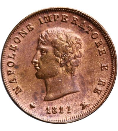 Włochy. Królestwo Napoleona 3 Centesimi 1811 M, Mediolan