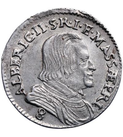 Włochy. Massa di Lunigiana, 8 Bolognini 1664, Alberico II Cybo Malaspina 1662-1667