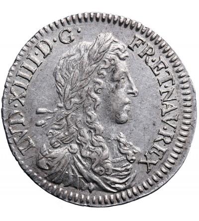 France 1/12 Ecu (10 Sol) 1662 & (amperstand), Aix, Louis XIV 1643-1715
