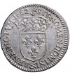 Francja 1/12 Ecu (10 Sol) 1662 & (amperstand), Aix, Ludwik XIV 1643-1715
