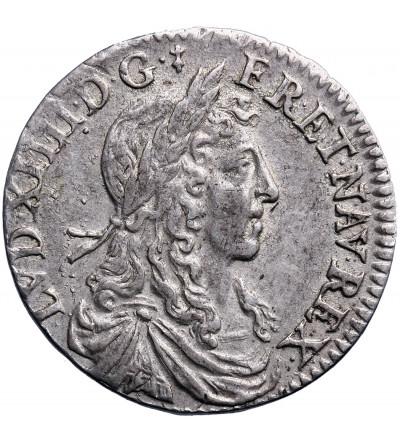 Francja 1/12 Ecu (10 Sol) 1660 A, Paryż, Ludwik XIV 1643-1715