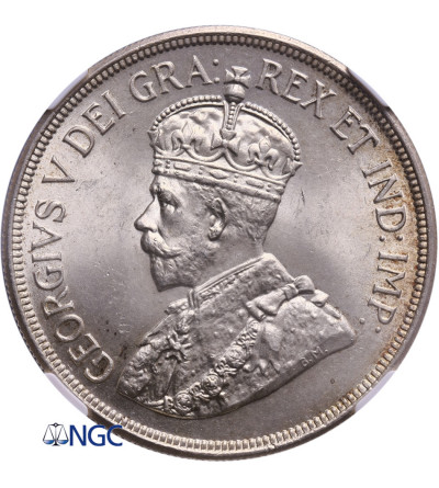 Cyprus 45 Piastres 1928, george V - NGC MS 64