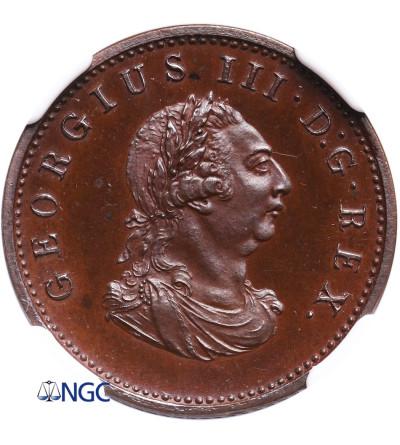Irlandia 1 Farthing (1/4 Penny) 1806, Jerzy III, Proof - NGC PF 65 BN