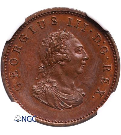 Ireland Farthing (1/4 Penny) 1806, George III - NGC PF 65 BN