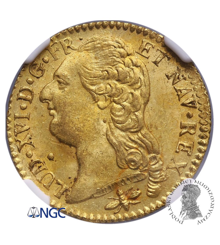 Francja 1 Louis d'or 1786 D, Lyon - NGC MS 63