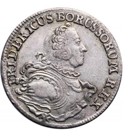 Prussia (Brandenburg-Preussen) 18 Kreuzer 1754 B, Wroclaw (Breslau), Friedrich II - for Silesia
