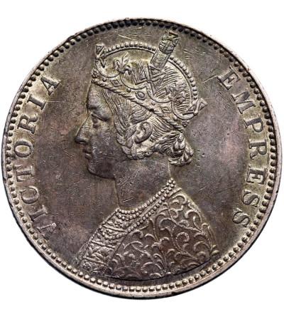 Indie - Bikanir 1 rupia 1897, Kalkuta