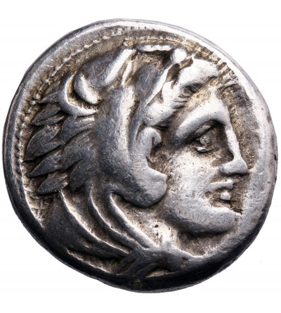 Grecja. Macedonia. Aleksander III Wielki, AR Tetradrachma, mennica Amphipolis, ok 328-327 r. p.n.e.