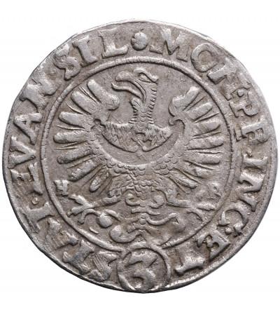 Śląsk. Stany Ewangelickie. 3 krajcary 1634 H-R / W , Wrocław