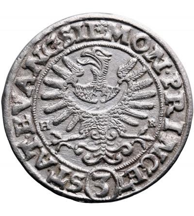 Silesia. Evangelical States 1633-1635. 3 Kreuzer 1634 H-R / W, Wroclaw (Breslau)