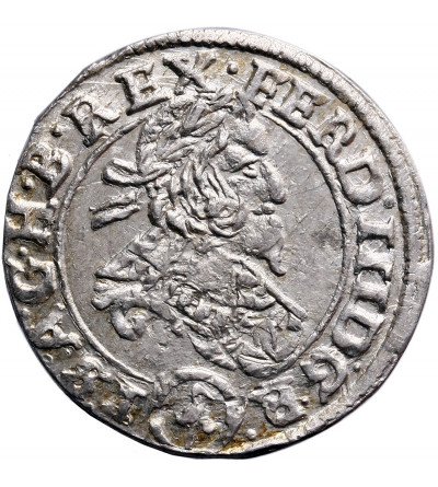 Austria (Święte Cesarstwo Rzymskie). 3 krajcary 1637, Wiedeń, Ferdynand III