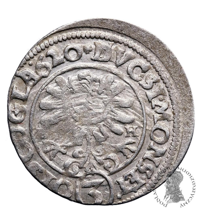 Śląsk. Księstwo Ziębicko-Oleśnickie. 3 krajcary 1620 B-H, Oleśnica