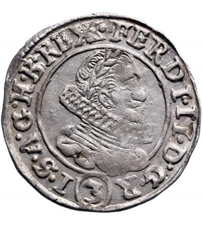 Austria (Święte Cesarstwo Rzymskie). 3 krajcary 1635, Praga, Ferdynand II