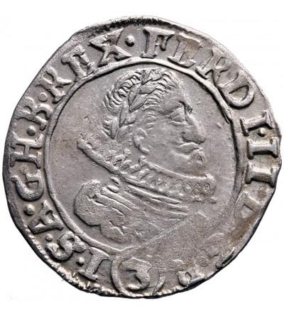 Austria (Święte Cesarstwo Rzymskie). 3 krajcary 1636, Praga, Ferdynand II