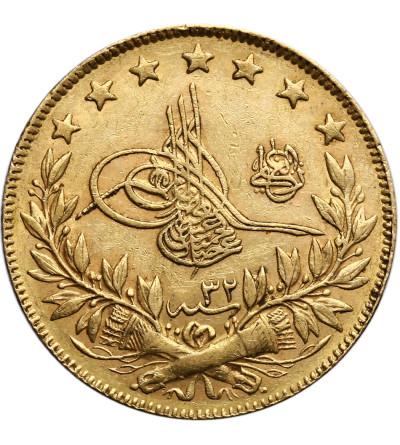 Turcja 100 Kurush AH 1293 rok 32 / 1907 AD, Abdul Hamid II