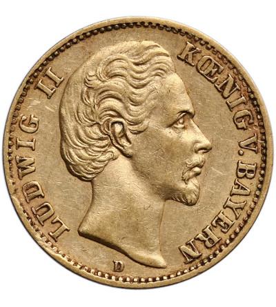 Niemcy - Bawaria 10 marek 1872 D, Ludwig II