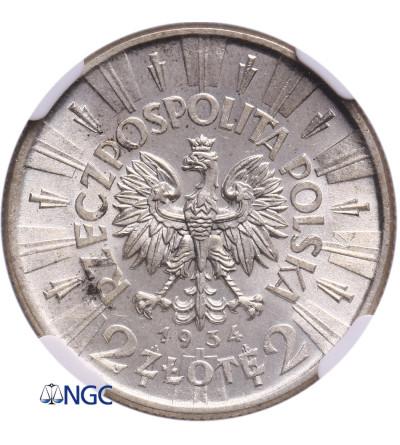 Polska 2 złote 1934, Józef Piłsudski - NGC MS 62
