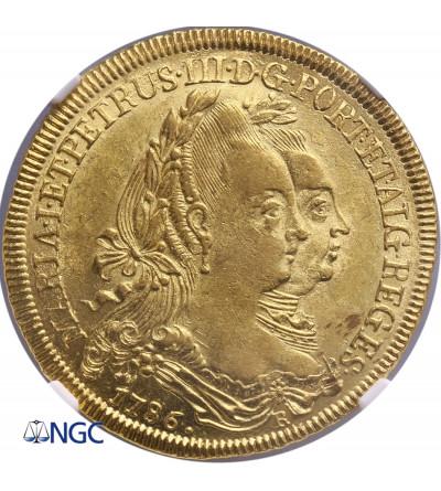 Brazil 6400 Reis 1786, NGC AU 58