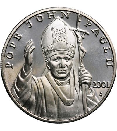 Liberia 10 dolarów 2001, Jan Paweł II