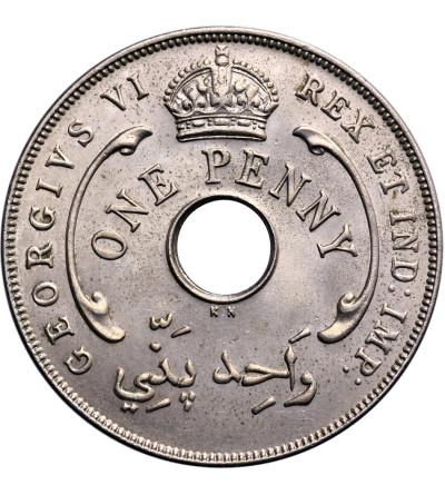Brytyjska Afryka Zachodnia 1 penny 1937 KN