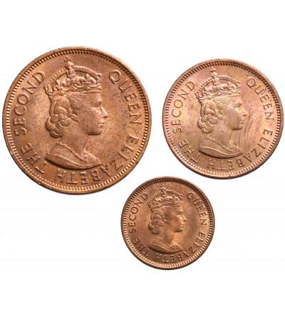Mauritius 1, 2, 5 Cents 1969