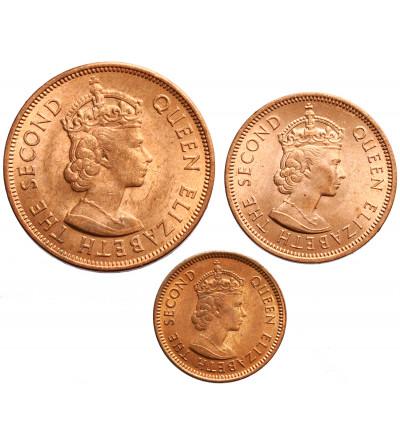 Mauritius 1, 2, 5 centów 1969