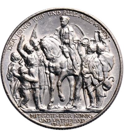 Niemcy. Prusy 2 marki 1913, 100-lecie zwycięstwa nad Napoleonem pod Lipskiem