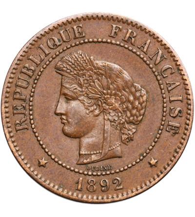 Francja 5 Centimes 1892 A