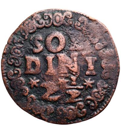 Włochy - Wenecja. 10 Tornesi 2 1/2 Soldini bez daty (1611-1619), bite dla Królestwa Candii na Krecie
