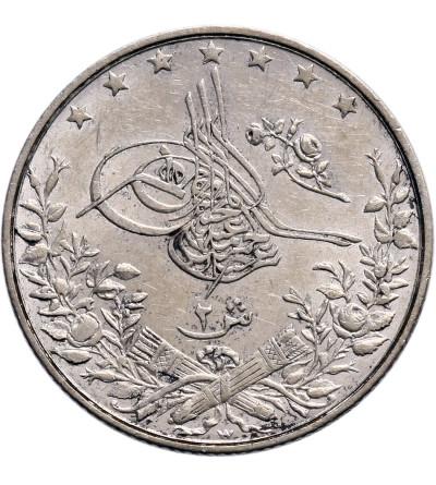 Egipt 2 Qirsh AH 1293 W rok 17 / 1893 AD, Abdul Hamid