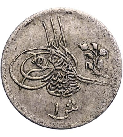 Egipt 1 Qirsh AH 1293 rok 5 / 1880 AD, Abdul Hamid