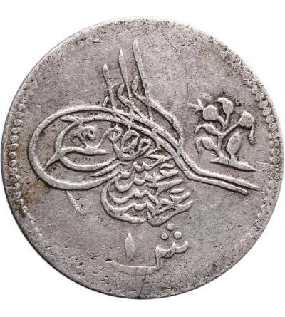 Egipt 1 Qirsh AH 1293 rok 1 / 1876 AD, Abdul Hamid