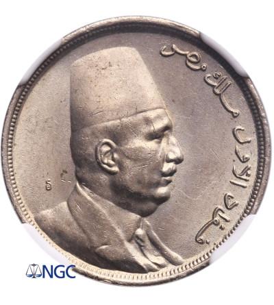 Egipt 5 Milliemes AH 1342 / AD 1924 H - NGC MS 64