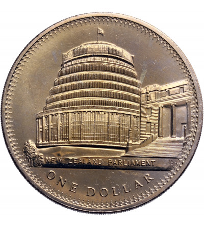 Nowa  Zelandia 1 dolar 1978, 25 rocznica koronacji i otwarcia budynku parlamentu