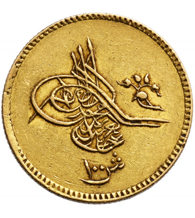 Egipt 100 Qirsh (Funt) AH 1277 rok 14 / 1873 AD, Abdul Azis