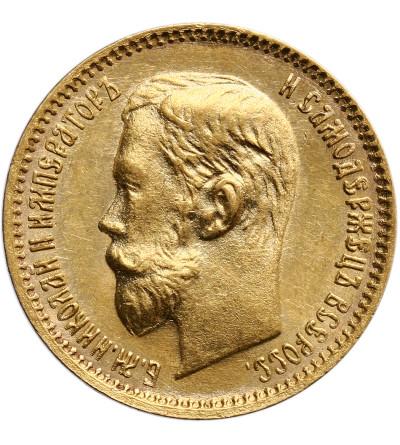 Rosja 5 rubli 1902 AP, St. Petersburg