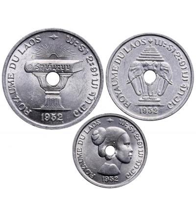Laos 10, 20, 50 centów 1952 - zestaw 3 sztuki