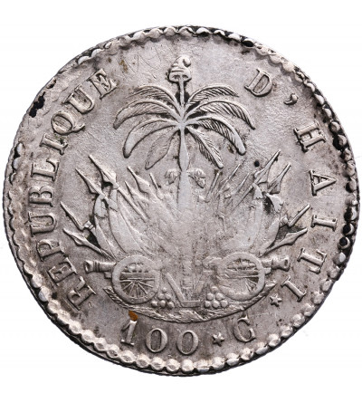 Haiti 100 Centimes AN 30 (1833 AD), Jean Pirre Boyer President Western Republic