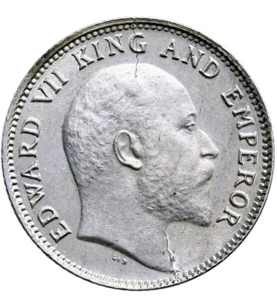 India British 1/4 Rupee 1906 (c), Calcutta, Edward VII