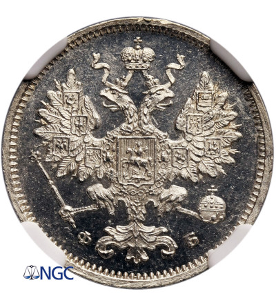 Rosja 15 kopiejek 1860 СПБ-ФБ, St. Petersburg - NGC MS 64