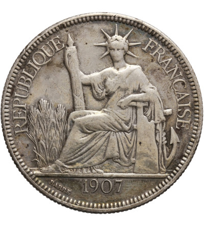 Indochiny Francuskie Piastre 1907 A