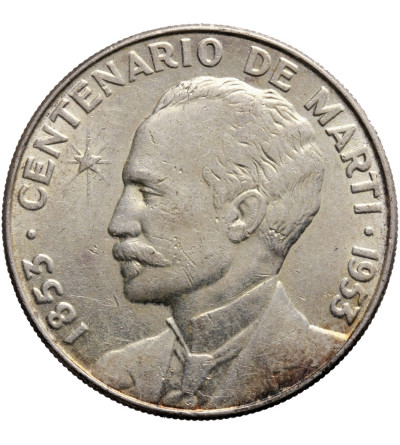 Kuba 1 peso 1953, Jose Marti Centennial